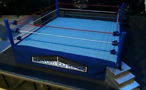 Custom Toy Wrestling Ring - Pro Action Ring - Scaled - WWE AEW WCW TNA WWF ECW