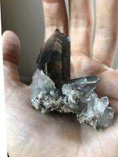 73g Phantom Quartz Crystal Chlorite Quartz Cluster Brazil Green Quartz Point