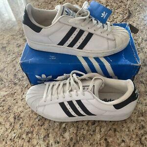 Vintage 2003 Adidas Superstar Size 12 New In Box! Blue White Shelltoe