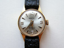 SERTY - SWISS MADE LADIES GOLD TONE MECHANICAL WRISTWATCH - NOS - 60's 70's