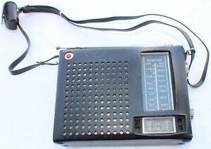 Vintage JVC Nivico AM/FM Transistor radio Working Clean Model 8203 with Case/Ear