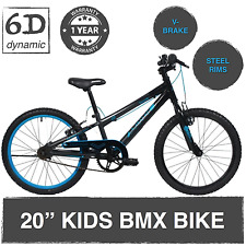 "Avalanche Antix 20"" BMX Boys/ Girls/ Kids Junior Bike -Black/Blue"