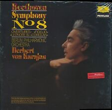 Beethoven Karajan Berlin Phil Sym No. 8 DG Privilege 2535-315 LP sealed promo