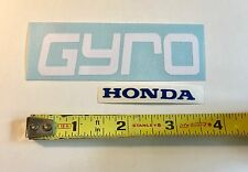 "Honda Gyro Decal NN50 1984 Custom WHITE Die Cut ~3.5""w/ Small BLUE Honda letters"