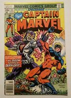 Captain Marvel Vol.1 #55 VF+ (Marvel,1977) The Doom Death-Grip!