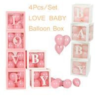 4pcs DIY Transparent Balloon Box Girl Boy Baby Love Birthday Party Wedding Decor