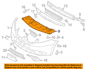 NISSAN OEM Versa Note Front Bumper-Splash Shield Under Engine Cover 626603VY0A