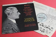 SAX 2394 B/s ED1 Ravel Piano Concertos Samson Francois Cluytens COLUMBIA UK 1st