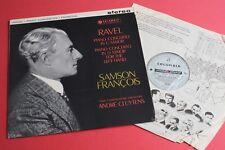 SAX 2394 B/s ED1 Ravel Piano Concertos Samson Francois Cluytens COLUMBIA UK1st