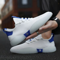 Men's Mesh Breathable Running Shoes Wear-resistant Rubber Sole Trainer Sneakers