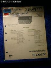 Sony Service Manual STR W777 Receiver (#5019)