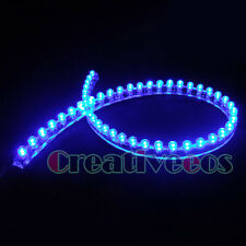 2Pcs BLUE 48CM 48LEDs PVC 12V CAR HOME GARDEN WATERPROOF DRL LED STRIP LIGHT NEW