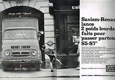 PUBLICITE ADVERTISING  1964   SAVIEM-RENAULTpoids lourds ( 2 pages)  CAMIONS