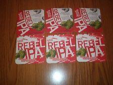 """Six (6) SAMUEL ADAMS """"REBEL IPA"""" WEST COAST STYLE 2013 Beer Coasters"""