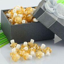 Charming Golden Lampwork Glass Crystal Glass Mushroom Charms Loose Beads