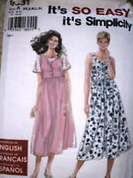 9581 UNCUT Simplicity SEWING Pattern Easy Dress Jumper XS - XL OOP Summer Spring