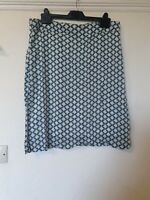 White Stuff Floral Abstract Lined Skirt Size 12