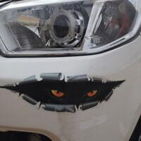 Funny Peeking Monster Scary Eyes For Car Bumper Window Vinyl Decal Sticker Black