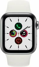 Apple Watch Series 5 White 40mm Stainless Steel Case White Silicone - MWWR2LL/A