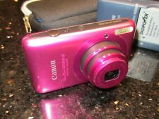 PINK Canon Power Shot SD1400IS + 2 Batteries + Charger + 4GB + Case > HDMI Movie