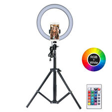 LED Dimmable Studio Camera Ring Light Photo Phone Video Fill Lamp Stand Tripod