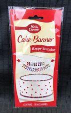 Betty Crocker Happy Birthday Cake Banner Birthday Cake Topper Party New