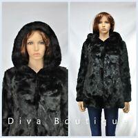 Zara Black Faux Fur Hooded Coat AW 2019 RRP £80 Free P&P Brand New