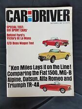 Car & Driver Sept 1966  Triumph TR-4  Alfa Romeo  Fiat 1500  Plymouth Boss Wagon