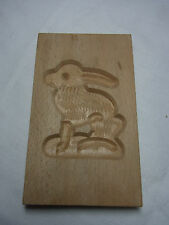 Vintage German Carved Wood Springerle Cookie Mold Bunny #Ci2