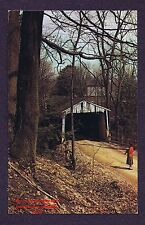 LMH Postcard WINDSOR MILLS COLUMBIA COVERED BRIDGE Wiswell Road Lattice Truss OH