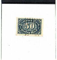 DR - Inflation - Mi.-Nr. 246a  - Ziffern 50 Mark - Gestempelt - Geprüft