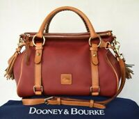 Dooney & Bourke RED pebbled Dillan leather Florentine doctor satchel tassel $478
