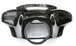 USED OEM HARLEY DAVIDSON VIVID BLACK BATWING OUTER FAIRING 5700016