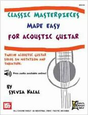 Classic Masterpieces Made Easy for Acoustic Guitar, New, Kalal, Sylvia Book