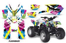 ATV Graphics Kit Quad Decal Sticker Wrap For Polaris Outlaw 50 08-18 FLASHBACK