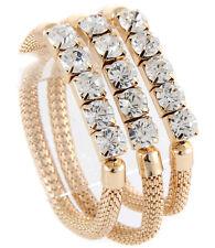 Beautiful Statement Celeb Gold Crystal 3 STRETCH Bracelet Set By Rocks Boutique
