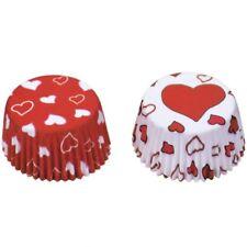 Muffins Papierförmchen Herzchen, Packung mit 50 Muffinförmchen