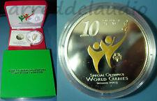 IRLANDA IRELAND 10 EURO 2003 SPECIAL OLYMPICS GAMES ARGENTO SILVER FS - PROOF