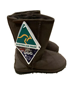 CHIC EMPIRE! Youth Boys Ugg Boots SIZE 1 - BROWN - AUSTRALIA - NEW WITH TAGS