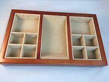 Mens MAPLE Valet Wooden Jewelry Holder Dresser-MARINER SANDS LOGO-W. PALM BEACH