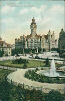 Ansichtskarte Leipzig Neues Rathaus und Tauchnitzbrücke 1906  (Nr.9027)