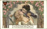 Fairy Tale Sleeping Beauty Kissed by Prince Frisch Liernerf c1910 Postcard