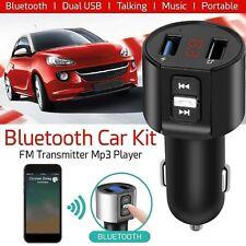 KIT VIVAVOCE Per Auto FM MP3 USB BLUETOOTH 5.0 TABLET smartphone caricabatterie