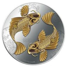 2012 Feng Shui - Koi 1 oz Coloured Silver proof Coin