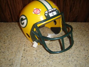 Child Toy Franklin Green Bay Packers Youth Size Football Helmet For Costume   DD