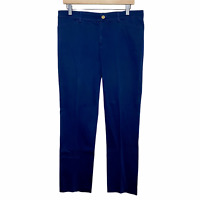 Lauren Ralph Lauren LRL Straight Leg Trouser Dress Pants Navy Blue Womens 8