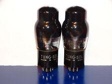 2 x 6F6g Tung-Sol (USA) Tubes *D Getter*Black Glass*Matching Codes*