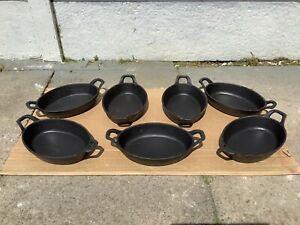 Cast Iron Stackable Utopia Balti Serving Dishes X 7