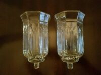 Set Of 2 HOMCO Astoria XLarge Hurricane PEG Votive Cup Candle Holders
