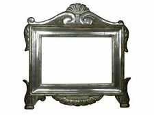 ANTIQUE 17TH CENTURY ITALIAN CARVED & SILVERED TABERNACLE PICTURE FRAME